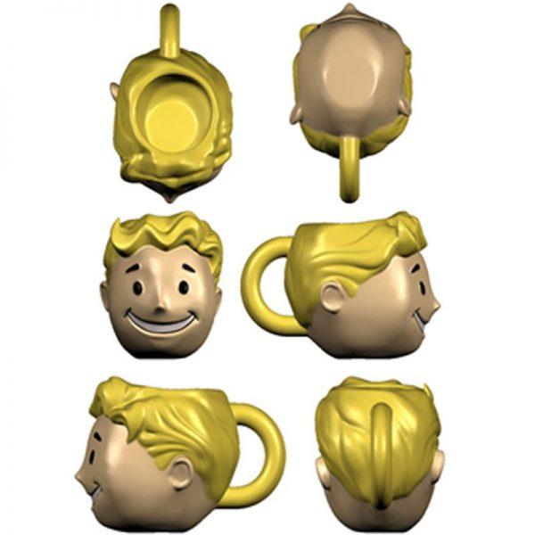 FALLOUT – Vault Boy 3D Puodelis galva